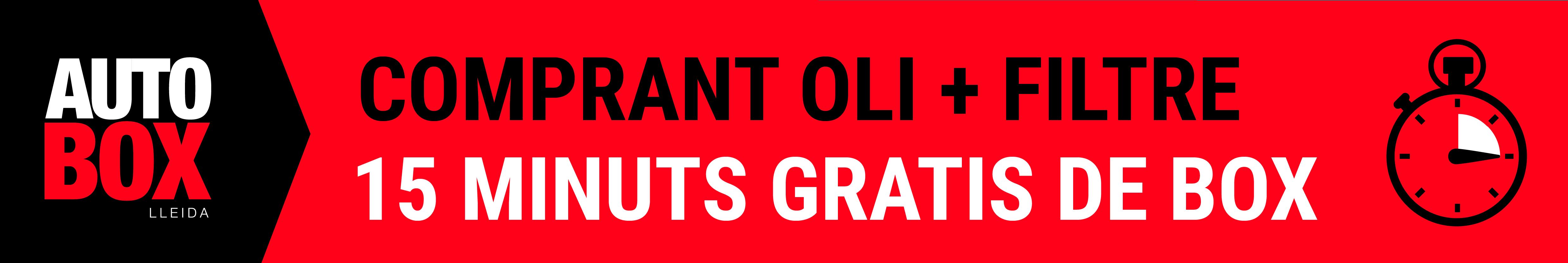 OFERTA OLI + FILTRE D'OLI