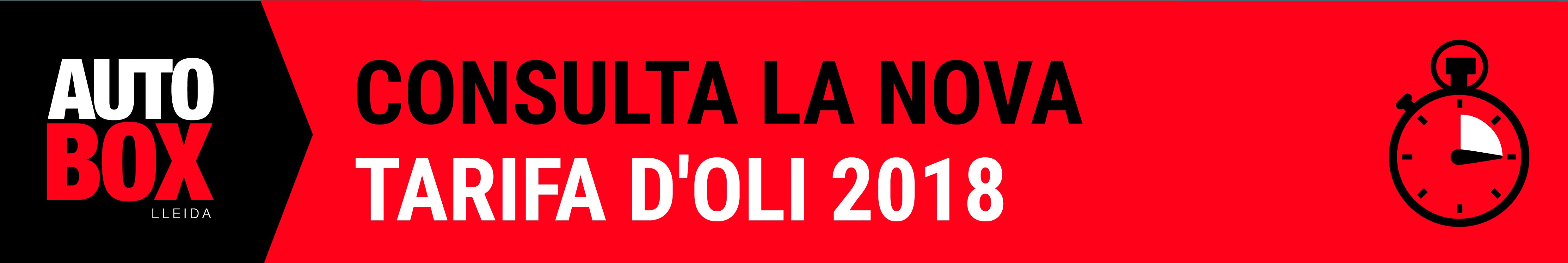 TARIFA OLIS 2018