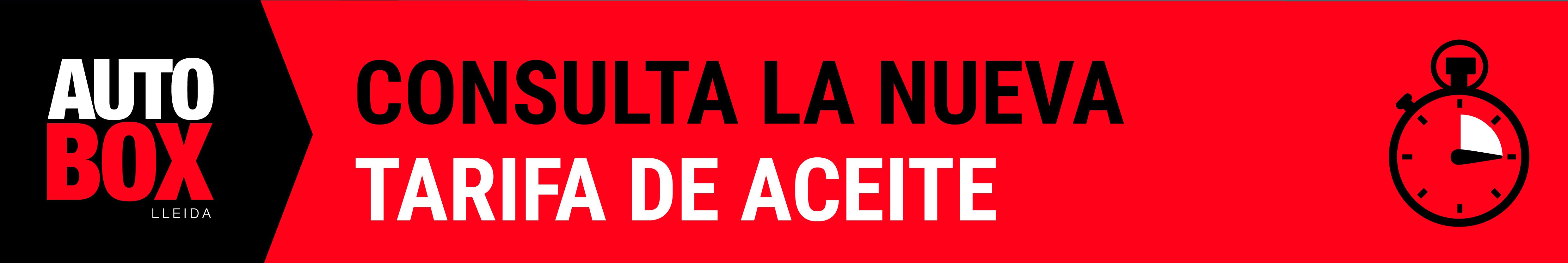 TARIFA ACEITES 2018